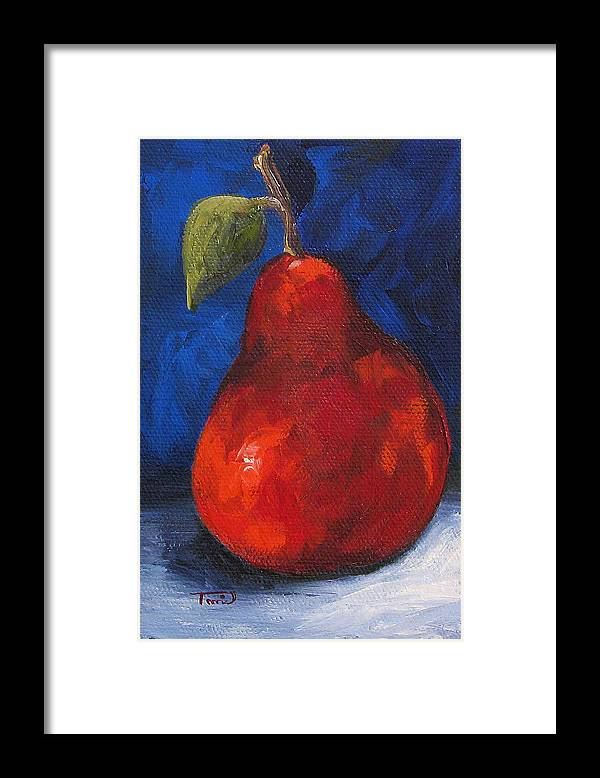 Pear Framed Print featuring the painting The Pear Chronicles 007 by Torrie Smiley