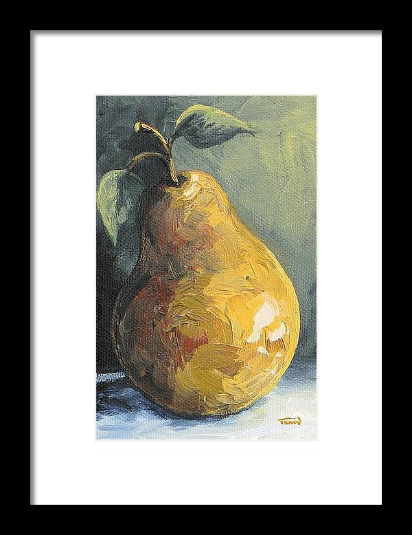 Pear Framed Print featuring the painting The Pear Chronicles 014 by Torrie Smiley