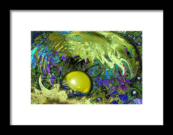 Pearl Framed Print featuring the painting The Pearl by Anne Weirich