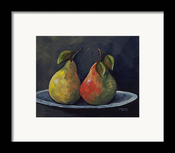Pear Framed Print featuring the painting The Pears by Torrie Smiley