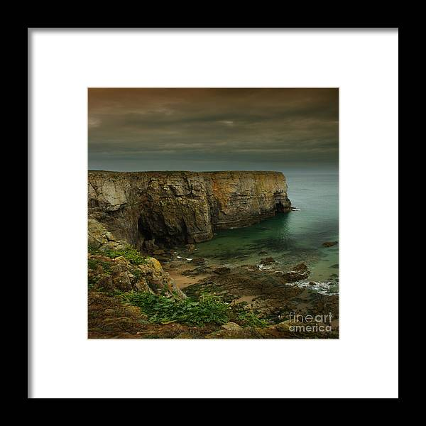 Pembrokeshire Framed Print featuring the photograph The Pembrokeshire Cliffs by Angel Ciesniarska