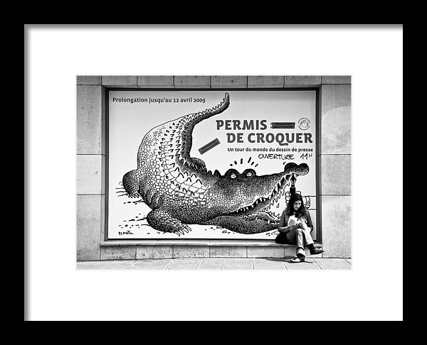 Street Photography Framed Print featuring the photograph The Pen Is Mightier Than... by Dave Bowman