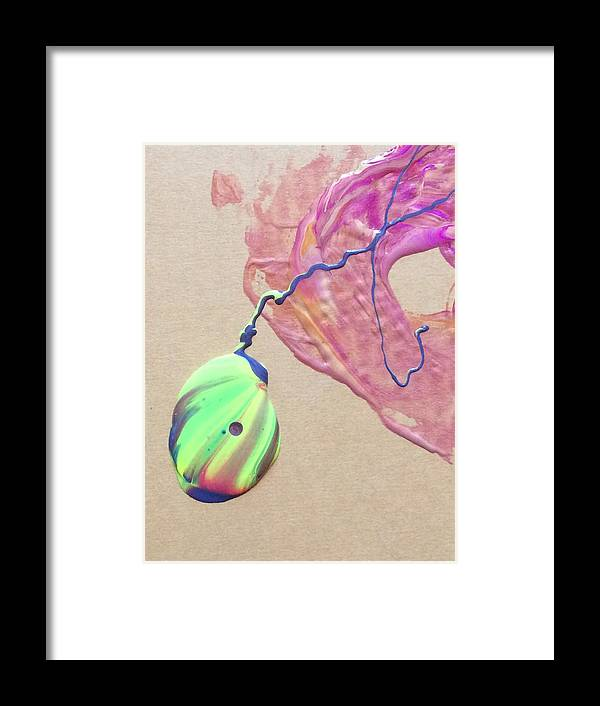 Paint Art Framed Print featuring the painting The Pendant by Jennifer Thomas