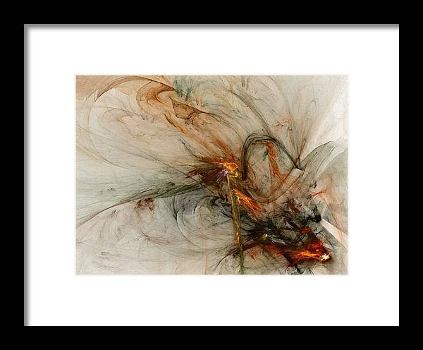 Nonrepresentational Framed Print featuring the digital art The Penitent Man - Fractal Art by NirvanaBlues