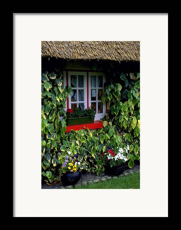 Ivy Framed Print featuring the photograph The Perfect Cottage by Carl Purcell
