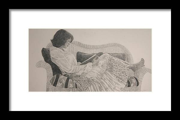 Drawing Framed Print featuring the drawing The Perfect Escape by Tina Turner