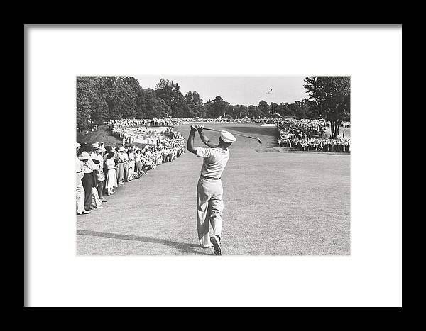 The Perfect Golf Swing Ben Hogan Golf Framed Print by Peter Nowell