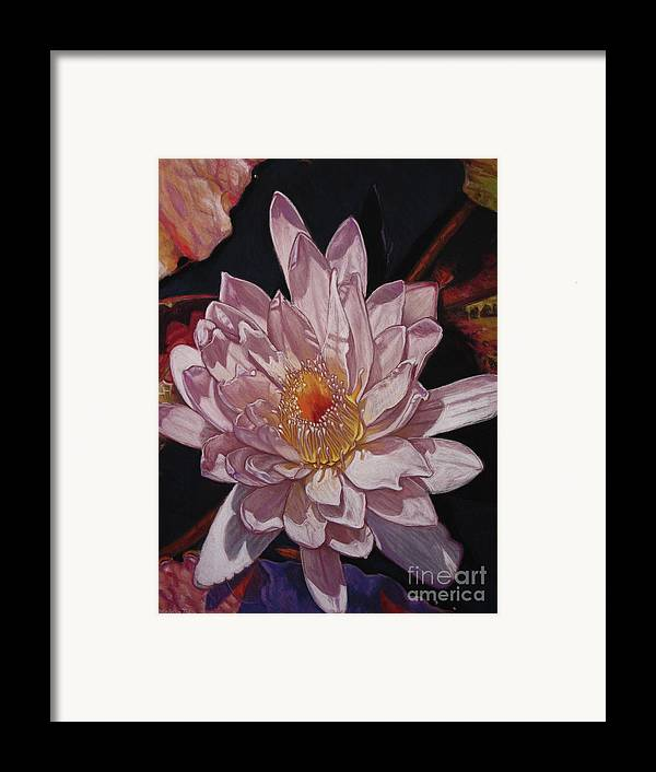 Botanical Framed Print featuring the painting The Perfect Lily by Melissa Tobia