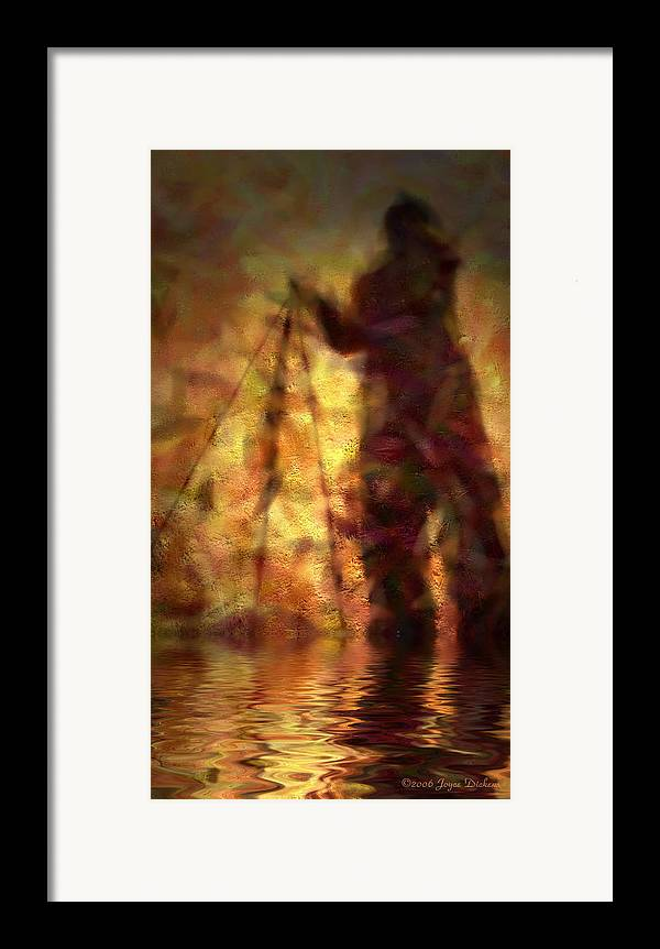 Photographer Framed Print featuring the photograph The Photographer In Water by Joyce Dickens