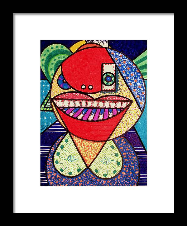 Cubism Framed Print featuring the painting The Pianist by Bill Meeker