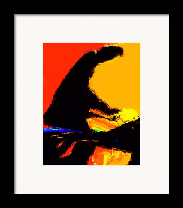 Abstract Framed Print featuring the digital art The Pianist by Richard Rizzo