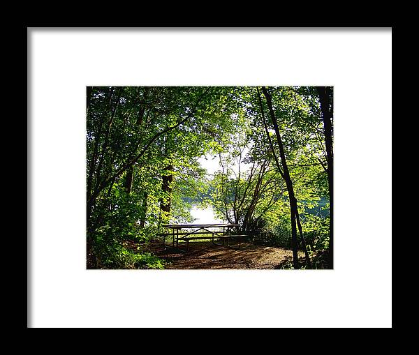 Table Framed Print featuring the photograph The Picnic Table by Charles Robinson