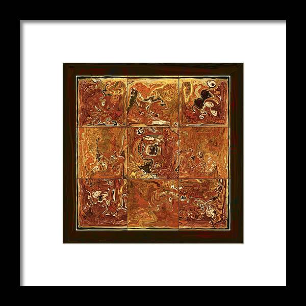 Abstract Framed Print featuring the digital art The Pieces by Rabi Khan