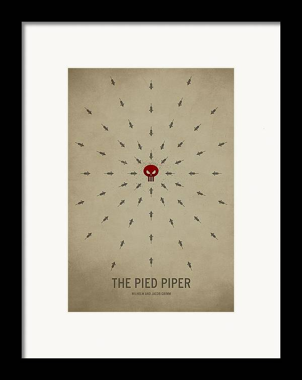 Stories Digital Art Framed Print featuring the digital art The Pied Piper by Christian Jackson