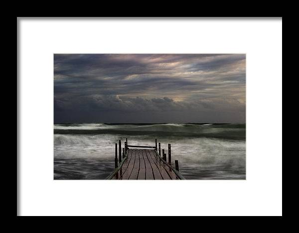 Atlantic Framed Print featuring the photograph The Pier...ayia Napa by Stelios Kleanthous