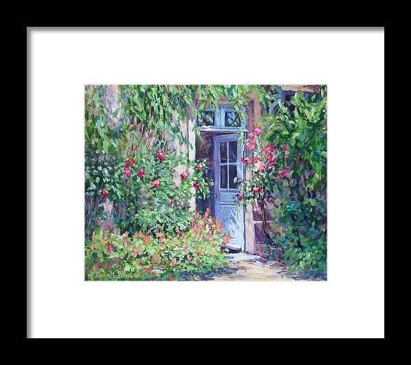 Giverny France Framed Print featuring the painting The Pink House by L Diane Johnson