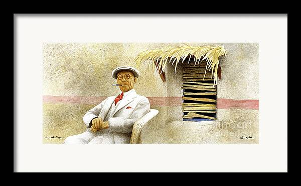 Will Bullas Framed Print featuring the painting The Pink Stripe... by Will Bullas