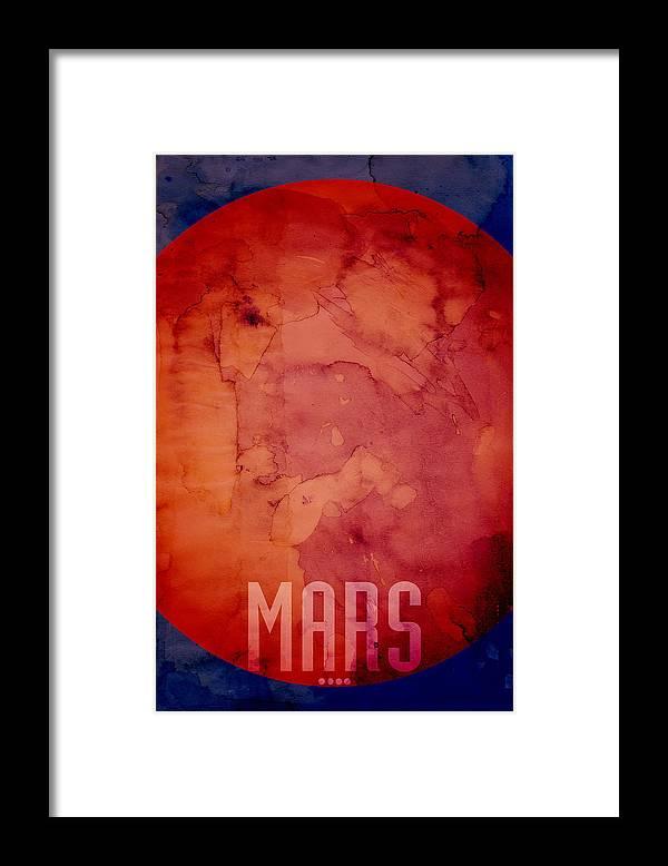 Mars Framed Print featuring the digital art The Planet Mars by Michael Tompsett