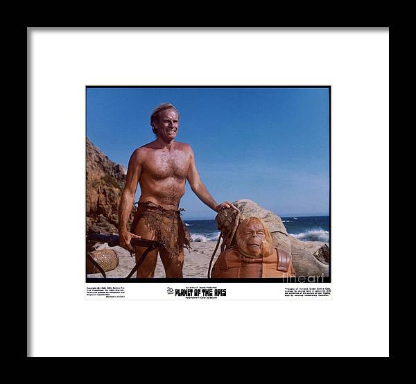 Planet Of The Apes Framed Print featuring the photograph The Planet Of The Apes 1968 by The Titanic Project