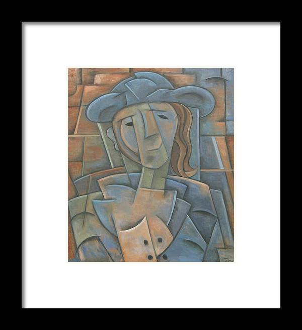 Cubism Framed Print featuring the painting The Poet by Trish Toro