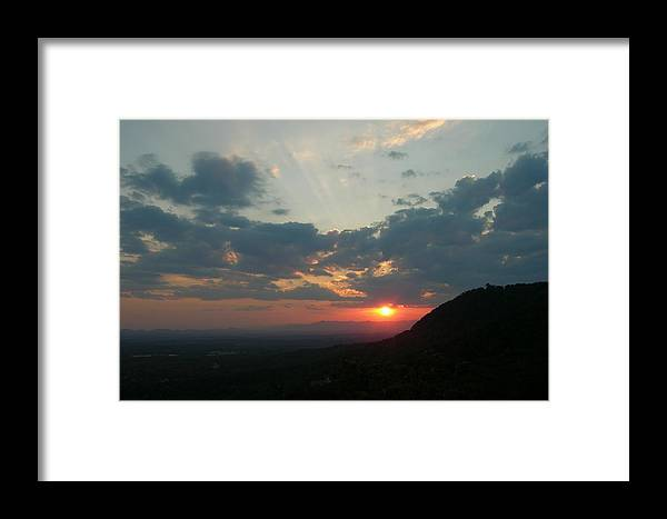 Sunset Framed Print featuring the photograph The Point At Sunset by John Geck