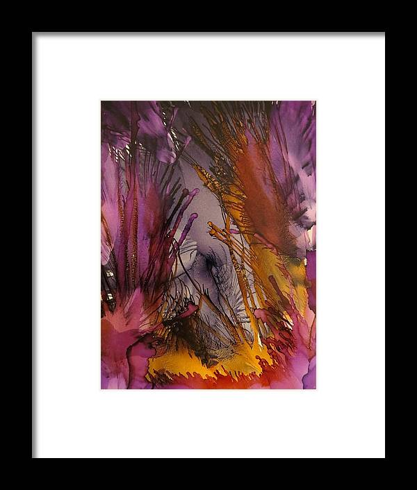 Ink Framed Print featuring the painting The Point by Soraya Silvestri