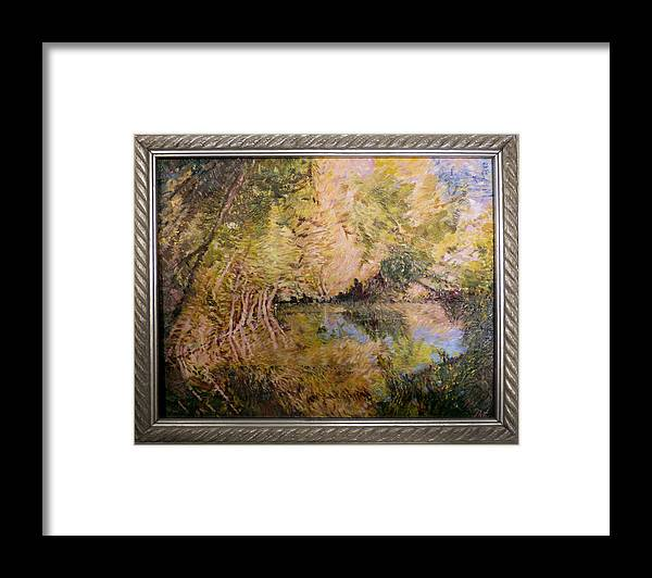 Pond Framed Print featuring the painting The Pond by Natalya Shvetsky