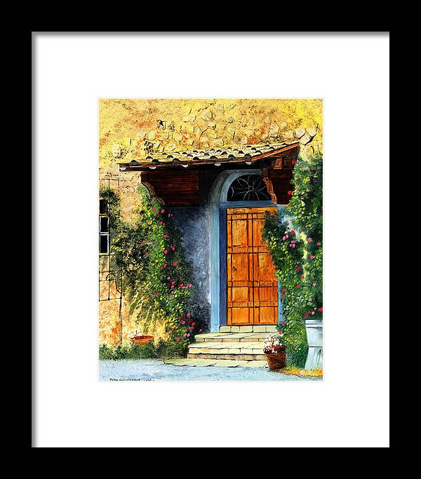 Landscape Framed Print featuring the painting The Portal by Don Griffiths