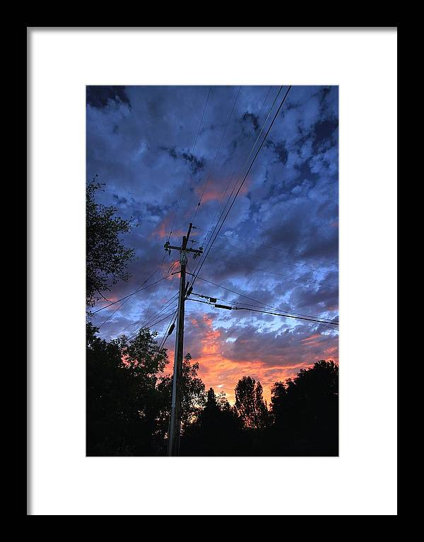 Power Framed Print featuring the photograph The Power Of Sunset by Sean Sarsfield