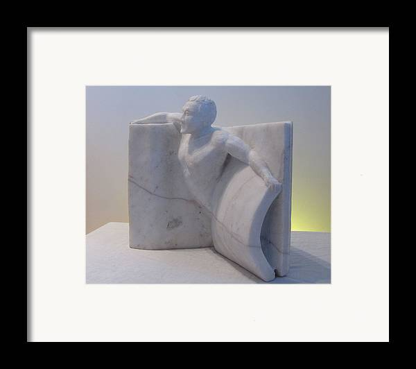Human Figure Framed Print featuring the sculpture The Power Of Words by Paul Shier
