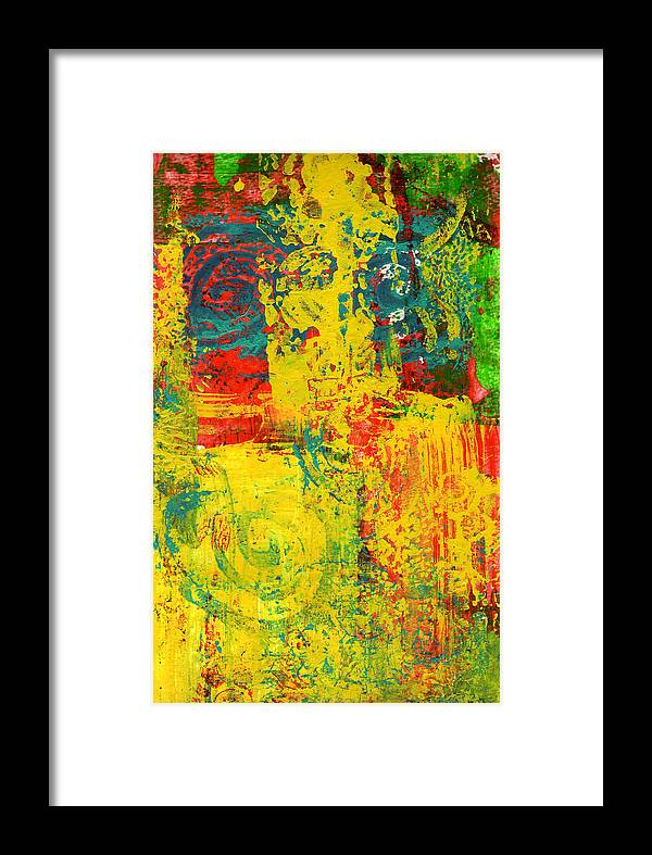 Abstract Framed Print featuring the painting The Power Within by Wayne Potrafka