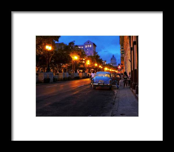 Havana Framed Print featuring the photograph The Prado, Havana Cuba by Cheryl Kurman