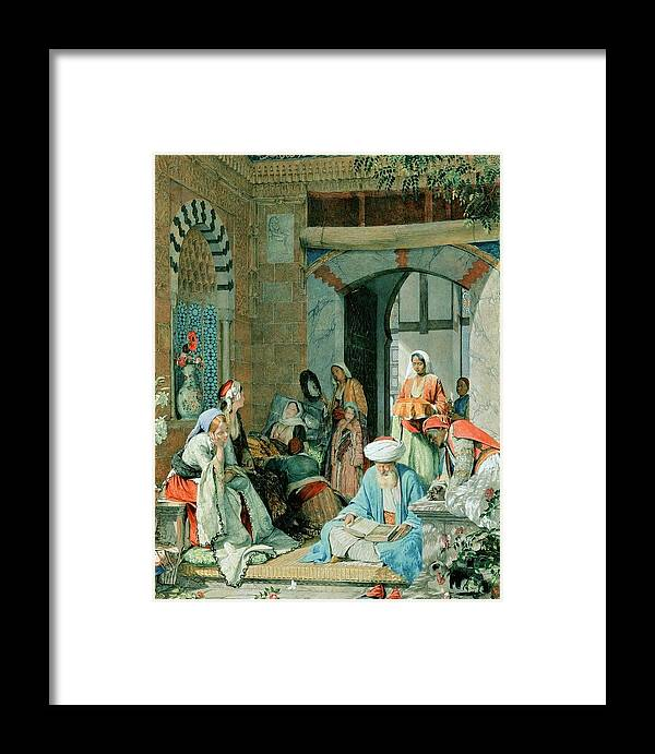 John Frederick Lewis(1804-1876)-orİentalİsm-(the Prayer Of The Faithful Shall Cure The Sick_19 Th Century) Framed Print featuring the painting The Prayer Of The Faithful by John Frederick
