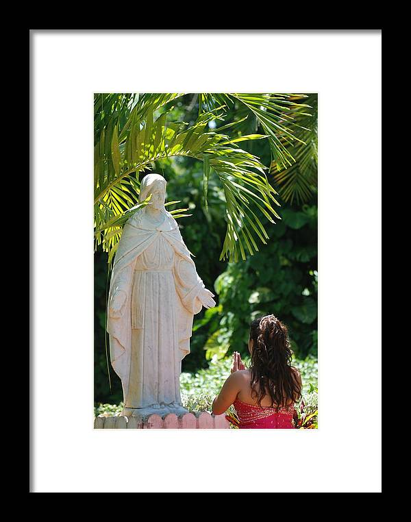 Portrait Framed Print featuring the photograph The Praying Princess by Rob Hans