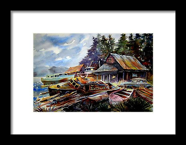 Boats Framed Print featuring the painting The Preserve Of Captain Flood by Ron Morrison