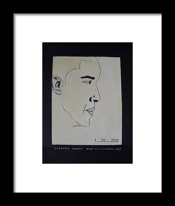 The Dream Come Truth. Framed Print featuring the painting The President Barack Obama. by Bucher