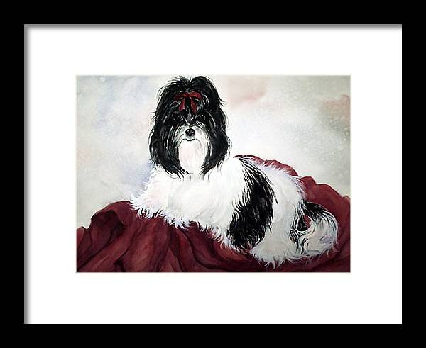 Canine Framed Print featuring the painting The Princess by Gina Hall