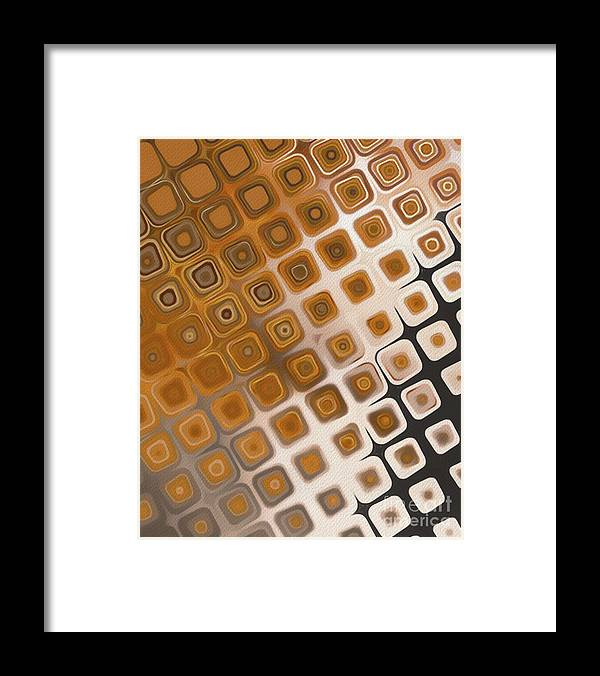 Pattern Framed Print featuring the painting The Prisoner by Esoterica Art Agency