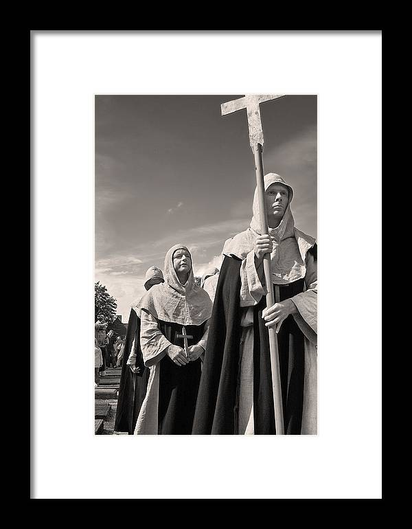 Crucifix Framed Print featuring the photograph The Procession by Robert Lacy