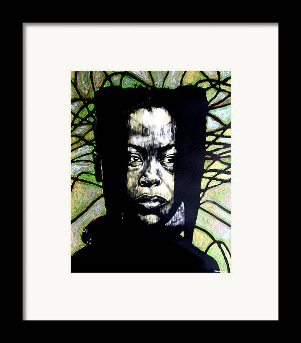 Portraits Framed Print featuring the mixed media The Promise Of Spring by Chester Elmore