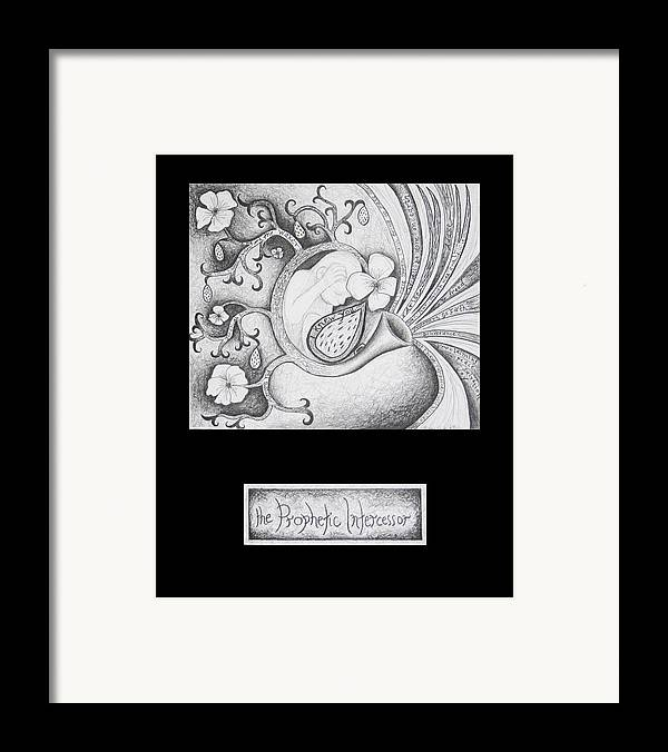 Christian Art Framed Print featuring the drawing The Prophetic Intercessor by Amy Parker
