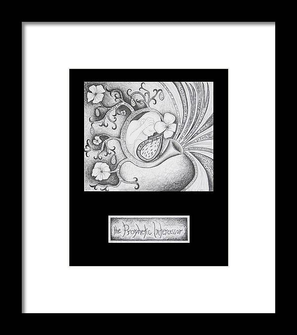 Christian Art Framed Print featuring the drawing The Prophetic Intercessor by Amy Parker Evans