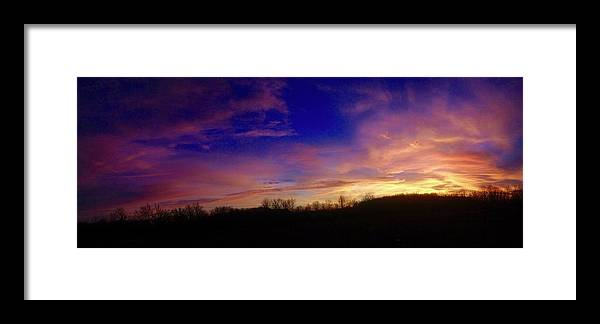 Sunset Framed Print featuring the photograph The Purple's Sunset by Taylor McClish