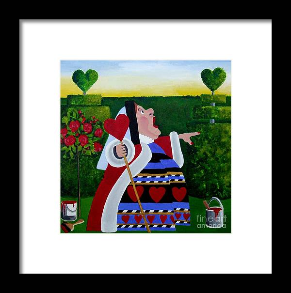 Queen Framed Print featuring the painting The Queen Of Hearts by Anni Morris