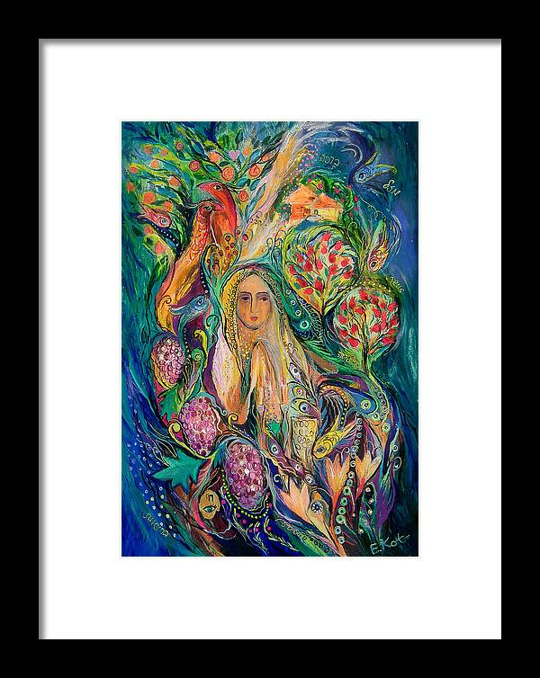 Original Framed Print featuring the painting The Queen Of Shabbat by Elena Kotliarker