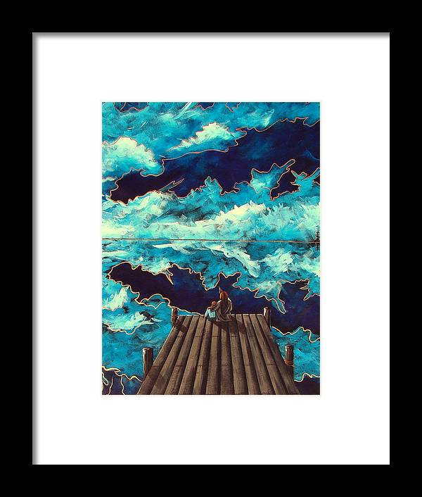 Queastion Framed Print featuring the painting The Question by Steven Lebron Langston