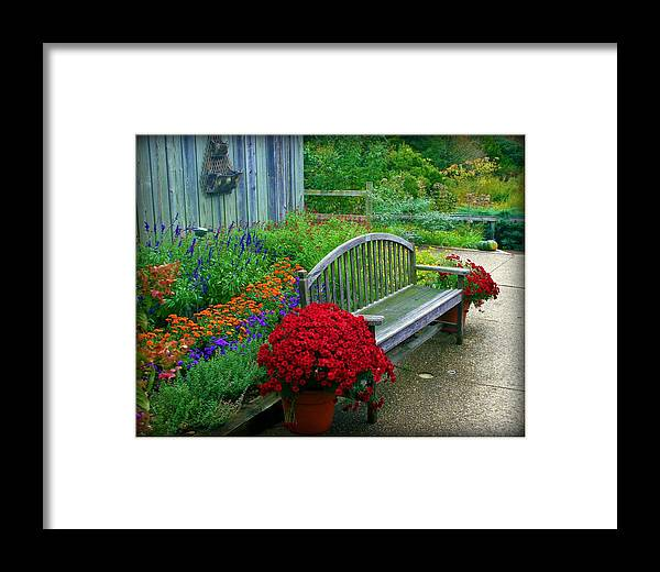 Garden Framed Print featuring the photograph The Quiet Place by Elizabeth Babler