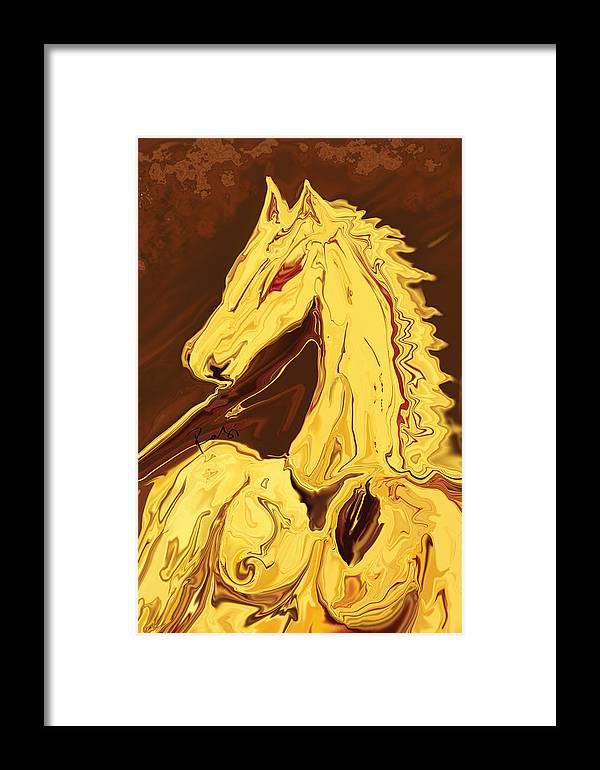 Brown Framed Print featuring the digital art The Race by Rabi Khan