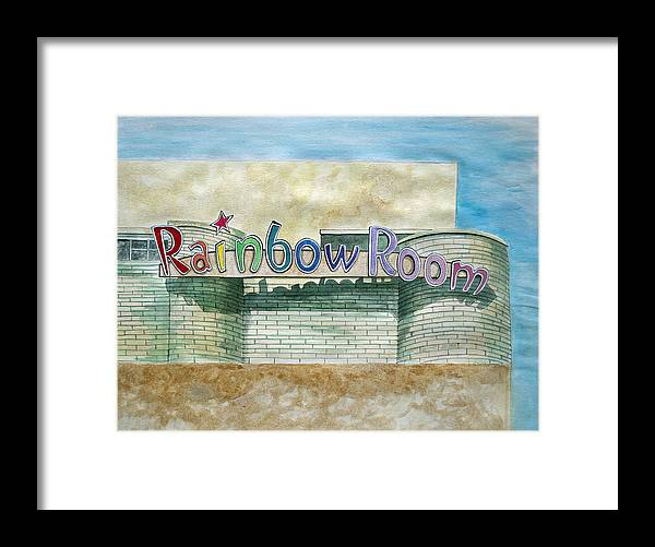 Asbury Art Framed Print featuring the painting The Rainbow Room by Patricia Arroyo