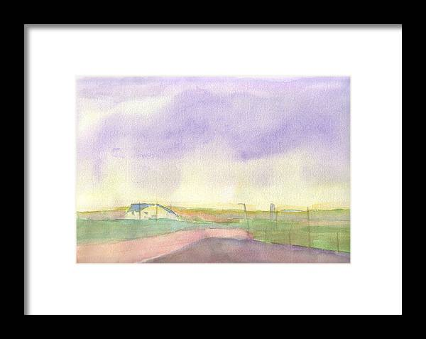 Rural Landscape Framed Print featuring the painting The Ranch by Lloyd Bast